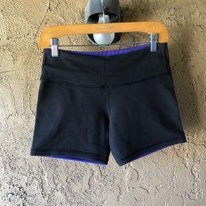Lululemon Black & Purple Reversible Shorts